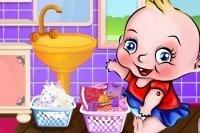 Dziecko Robi Pranie