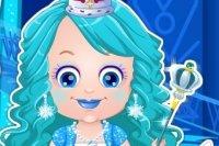 Mała Hazel: przebieranie Księżniczki lodu