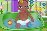 Mały Janek w Kąpieli